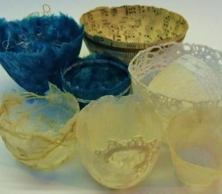 Delicate Paper Bowl Workshop Samples