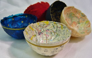 Delicate handmade paper bowls