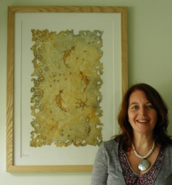 'Nerice', handmade paper work by Joy Norman.